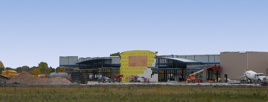 Walmart under construction at Grant Park Pavilions