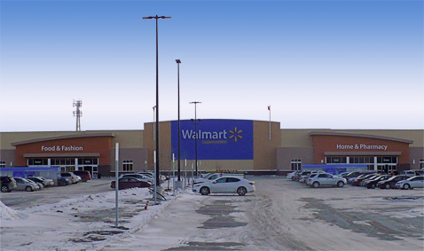 "New Walmart Supercentre in Winnipeg at our ""Grant Park Pavilions"" development on Taylor Avenue"