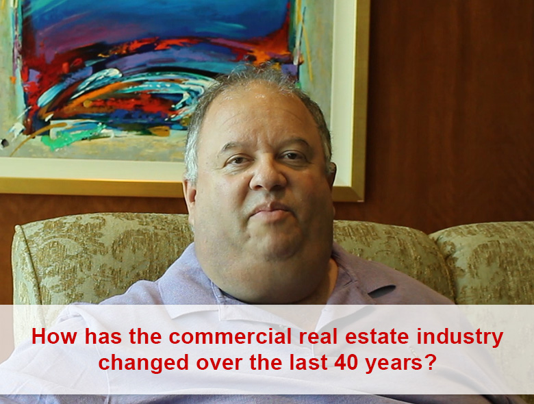 How has the commercial real estate industry changed over the last 40 years?