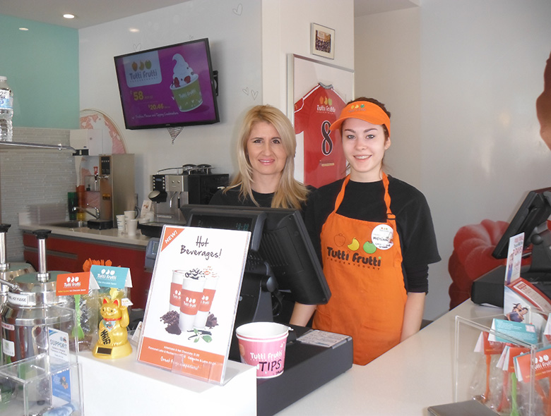 Tutti Fruitti owner, Tanja Nonkovi?-Toljusic, with Employee